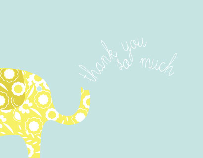 thank you cards - my little elephant by Anupama