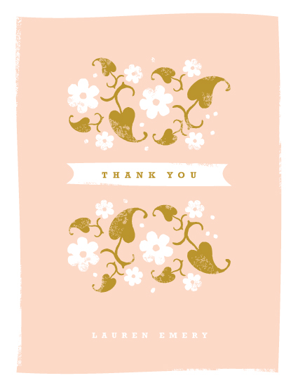 thank you cards - Country Garden by Kristie Kern