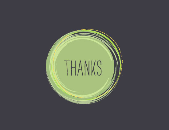 thank you cards - Blended by Luckybug Designs