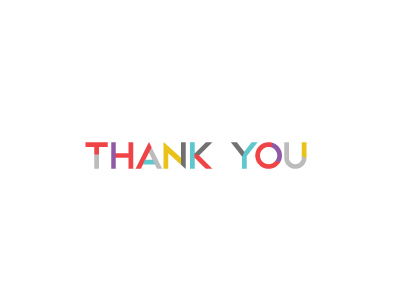 thank you cards - A Colorful Thank You by studioflo
