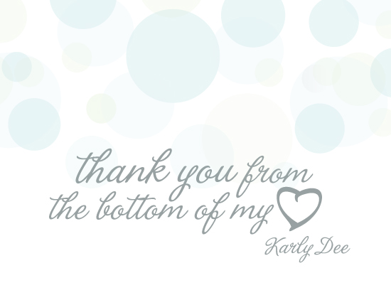 thank you cards - Carefree by Sparkmymind Designs