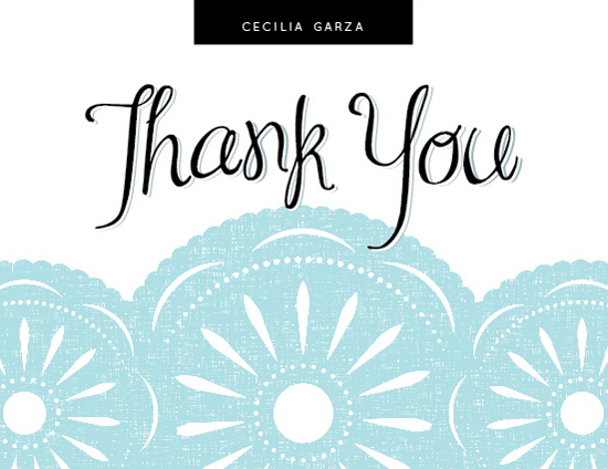 thank you cards - Fiesta Flag Thank You by Jessica Booth