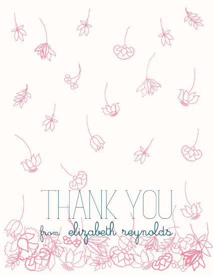 thank you cards - Raining Flowers by Jodi Cherry