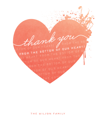 thank you cards - From the Bottom of Our Hearts by Serenity Avenue
