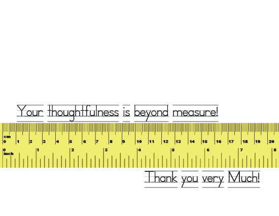 thank you cards - Beyond Measure by Kori Woodring