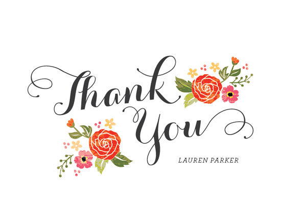 thank you cards - Bouquet by Coco and Ellie Design