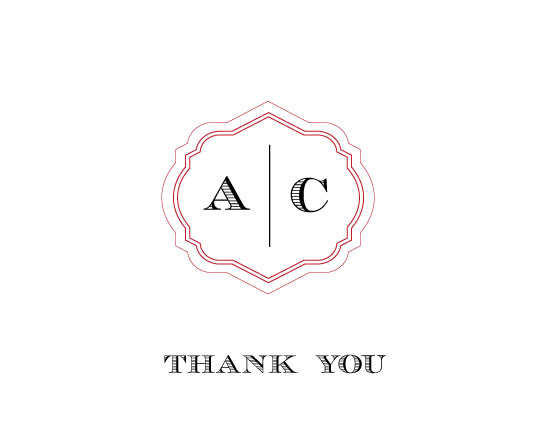 thank you cards - His and Hers by Olive Paper
