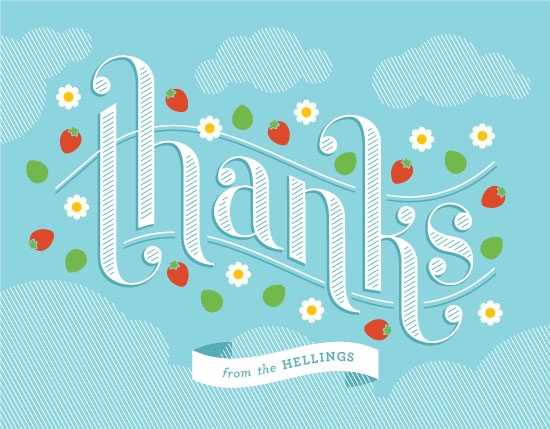 thank you cards - Strawberry Thanks by Corey David Helling