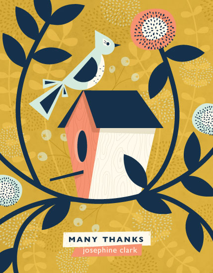 thank you cards - Treetop Sanctuary by Angela Marzuki