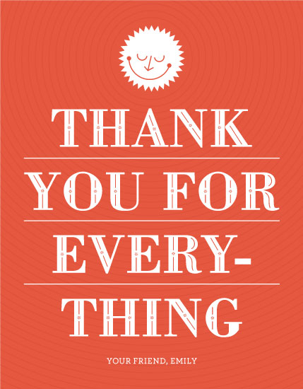 thank you cards - Thanks for Everything by Corey David Helling