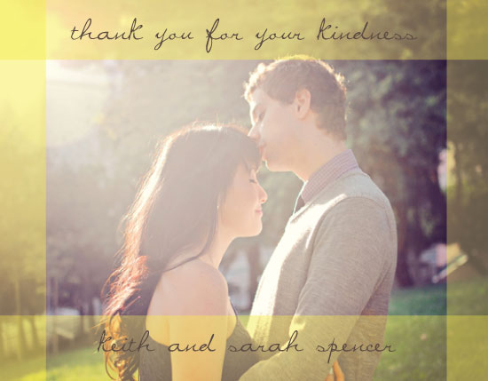 thank you cards - Sunny Border by Olive Paper