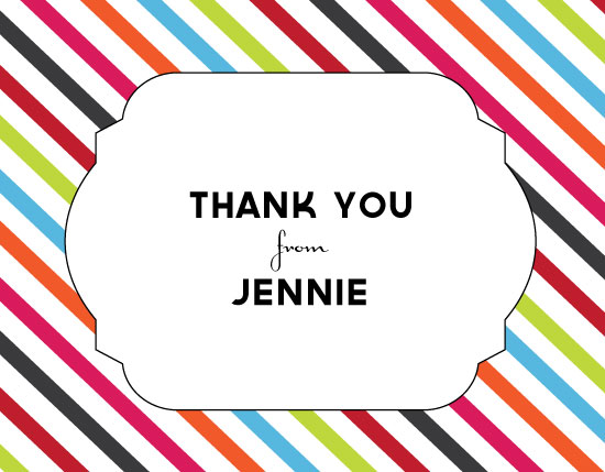 thank you cards - Bright Stripes by Olive Paper