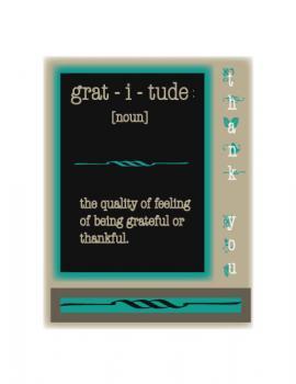 Webster's Gratitude