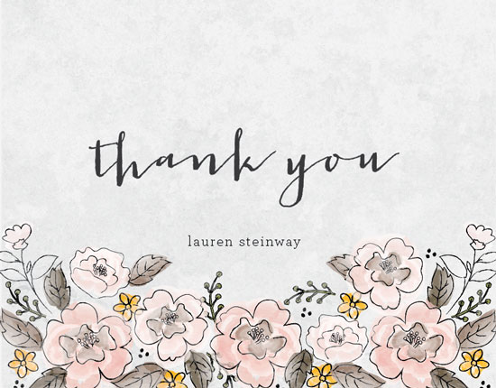 thank you cards - Garden Roses by Coco and Ellie Design