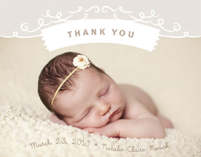 thank you cards - Baby Thank You by Christina Novak