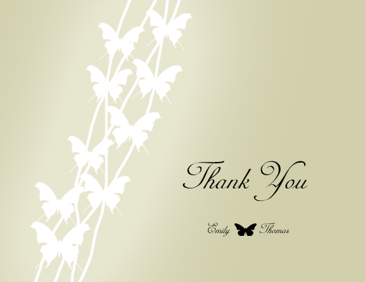 thank you cards - Butterfly Flutter by SandyCreation