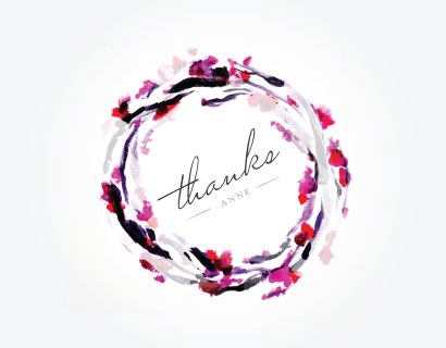 thank you cards - A Garland of Gratitude by Jessie Jellicorse