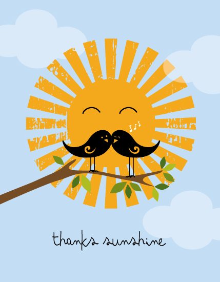 thank you cards - Thanks Sunshine by digital-couture