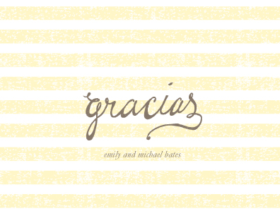 thank you cards - gracias stripes by SimpleTe Design