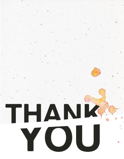 thank you cards - Splash by WHALEN