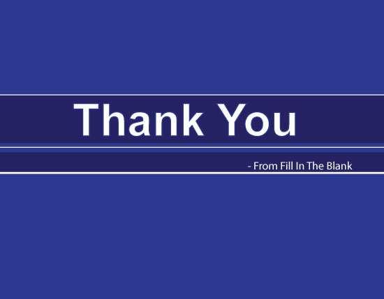 thank you cards - Bold Blue Stripe by Iget2design2day