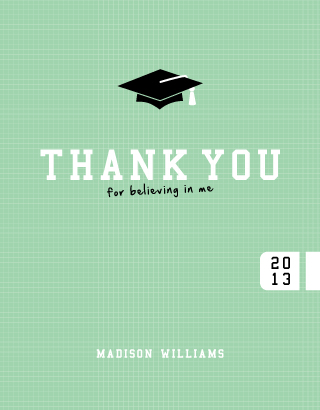 thank you cards - Fancy That Grad Hat by Serenity Avenue