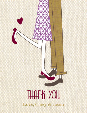 thank you cards - Thanks Love by By Birch