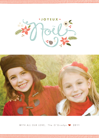 holiday photo cards - Ribbon Noel by Jennifer Wick