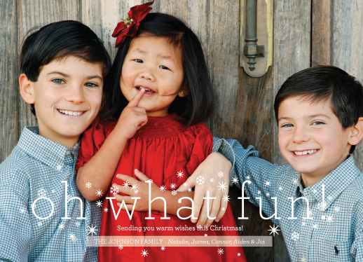 holiday photo cards - Oh What Fun  by Abby Munn