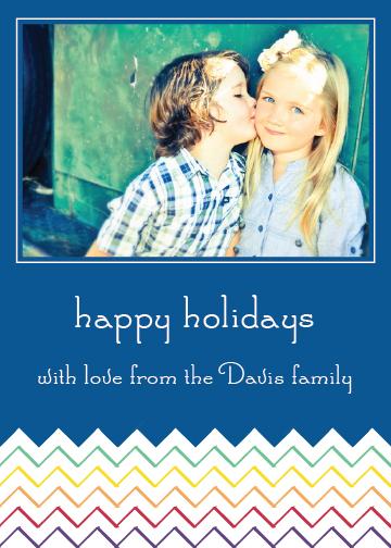 holiday photo cards - Chevron Rainbow by Elisabeth Lein