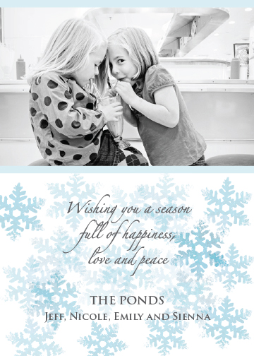 holiday photo cards - Stamped Snowflakes by Elisabeth Lein