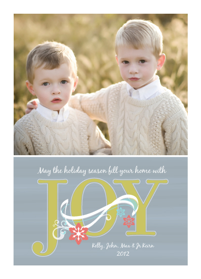 holiday photo cards - Joy by Sparkmymind Designs