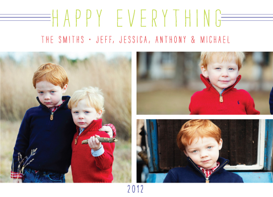 holiday photo cards - Happy Everything by Stella Bella Invites