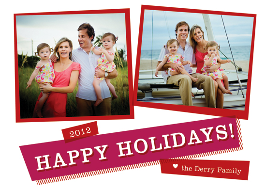 holiday photo cards - Ticker Tape by RedRedOrange