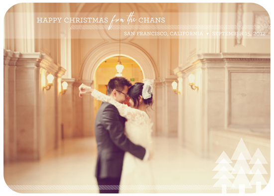 holiday photo cards - A Modern Happy Christmas by la Happy