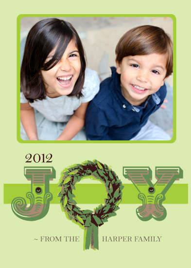 holiday photo cards - Joyous Wreath by The Polkadot Balloon