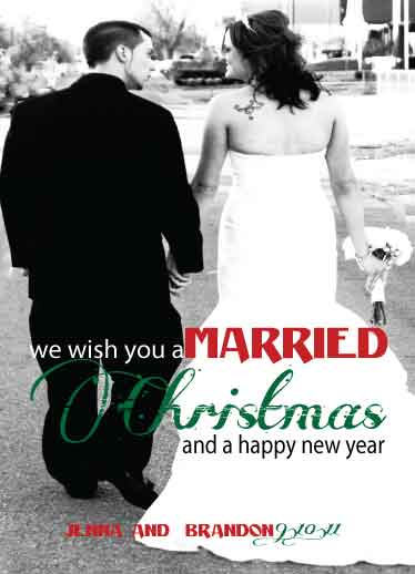 holiday photo cards - Married Christmas by Elite Party Creations