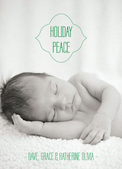 holiday photo cards - HOLIDAY PEACE by Olive Paper