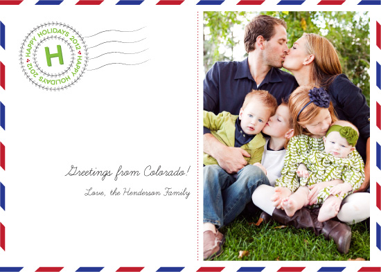 holiday photo cards - Greetings From by Marcela Cebrowski