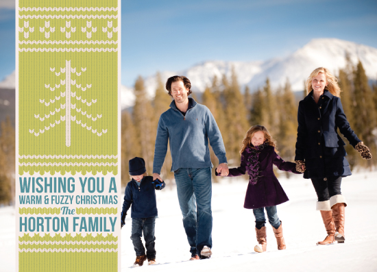 holiday photo cards - Warm & Fuzzy Tree by Sparkmymind Designs