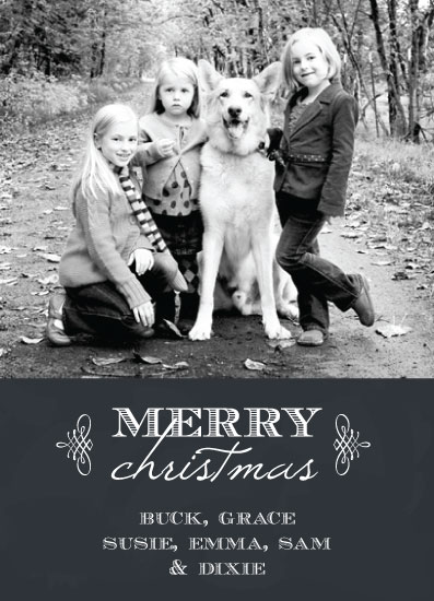 holiday photo cards - Christmas in Chalk by Olive Paper