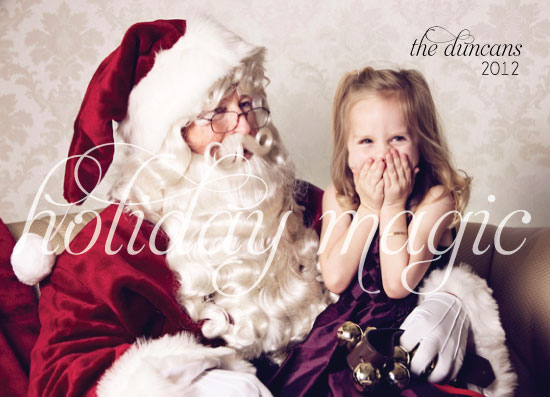 holiday photo cards - Sweet Holiday Magic by Olive Paper