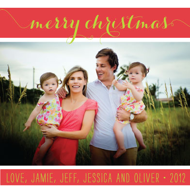 holiday photo cards - Merry Bright Christmas by Stella Bella Invites