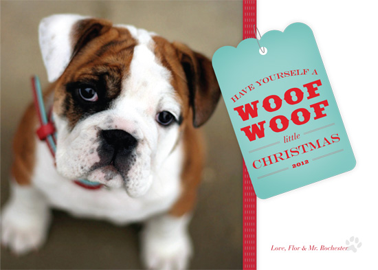 holiday photo cards - A Woof Woof Christmas by Marcela Cebrowski