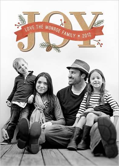 holiday photo cards - Rustic Joy by Hooray Creative