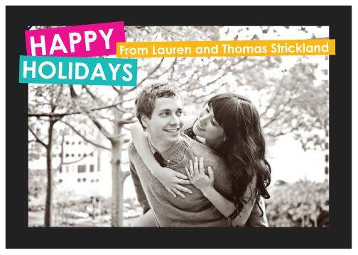 holiday photo cards - Neon Brights by Kirstin Nagy