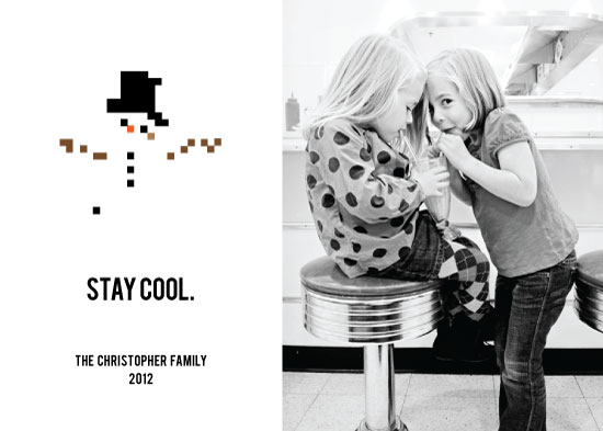 holiday photo cards - Stay Cool Frosty by victoria