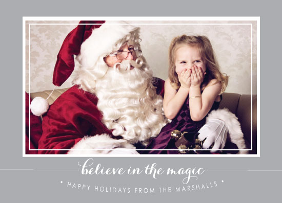 holiday photo cards - Believe in the Magic by Stella Bella Invites
