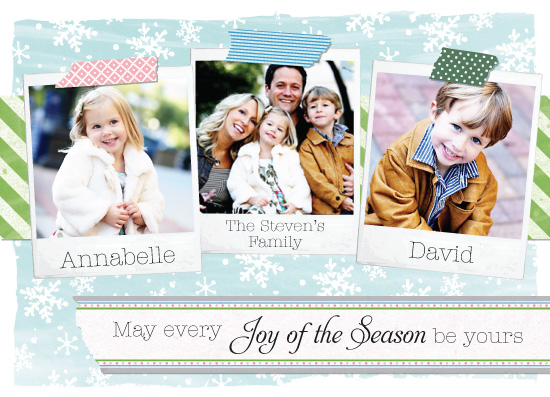 holiday photo cards - Polaroid Patterns by Shannon Crissey