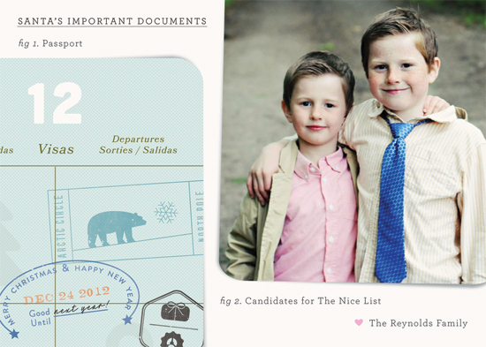 holiday photo cards - santa's important documents by nocciola design
